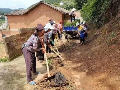 丘北温浏:巾帼志愿队 助力人居环境整治