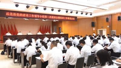 丘北召开党的建设工作领导小组第二次联席会暨组织工作推进会