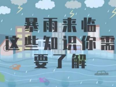 应急科普 | 视频:暴雨来袭怎么办?