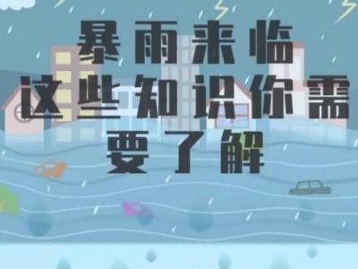 科普|暴雨来临,这些知识你要了解