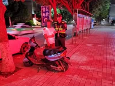 丘北县公安局巡逻防控部查获一起盗窃摩托车案