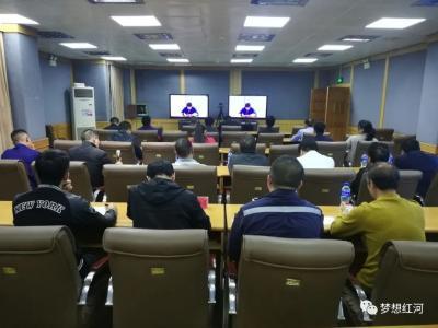 红河县组织参加全省全州地质灾害防治工作电视电话会议