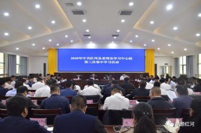 红河县委理论学习中心组举行2020年第三次集中学习