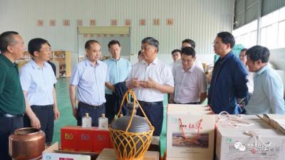 中国兵器工业集团有限公司总经理刘大山一行到红河县调研