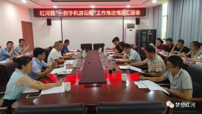 """州人大常委会到红河县调研""""一部手机游云南""""工作推进情况"""