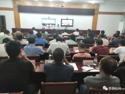 红河县组织收听收看全州法治政府建设工作电视电话会议