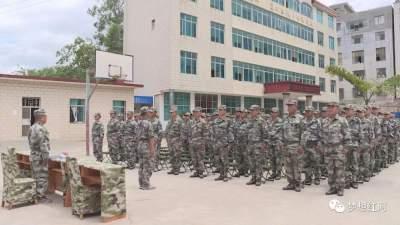 县人武部组织开展民兵应急演练提高应急处突能力