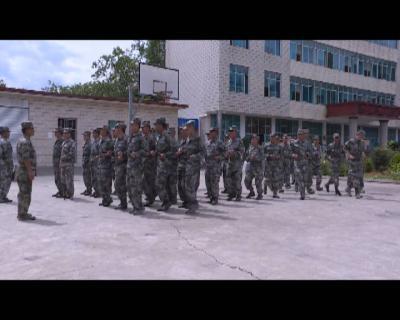 县人武部组织开展民兵应急演练   提高应急处突能力