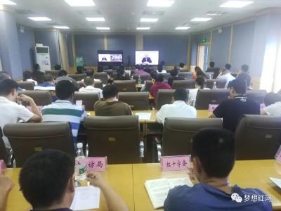 """红河县组织参加全省推进爱国卫生""""7个专项行动""""第1次视频调度会议"""