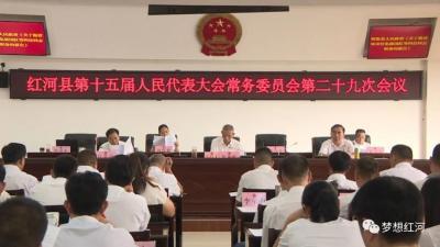 县十五届人大常委会举行第二十九次会议