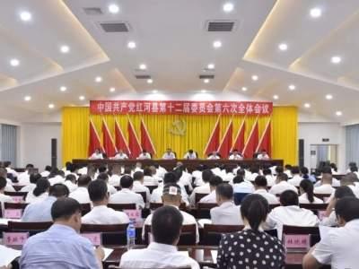 中共红河县委十二届六次全会在迤萨举行