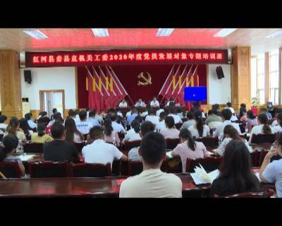 红河县举办2020年度党员发展对象  专题培训班
