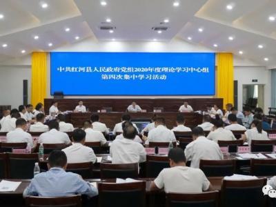 县政府党组理论学习中心组举行2020年第4次集中学习