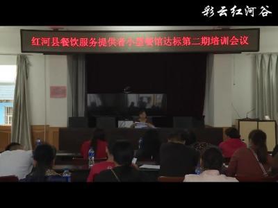 红河县举办餐饮服务提供者小型餐馆达标培训会