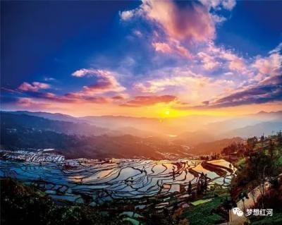 """逛鱼米水乡,赏生态美景!便是""""云上撒玛坝""""红河县的健康生活打开方式~"""
