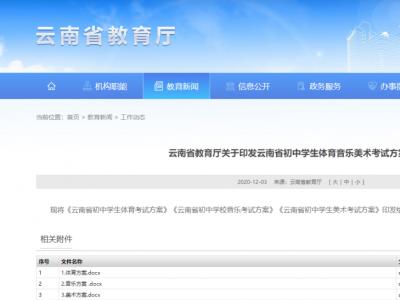 云南初中体育考试方案公布,必测这4项!还有音乐、美术…