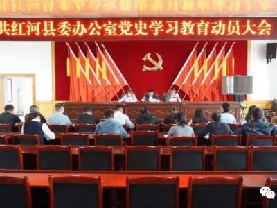 红河县三举措推进党史学习教育活动