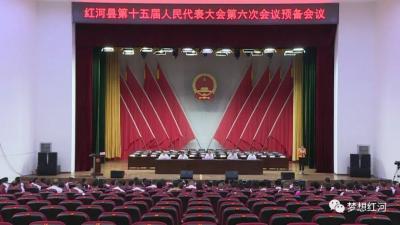 红河县第十五届人民代表大会第六次会议召开预备会议