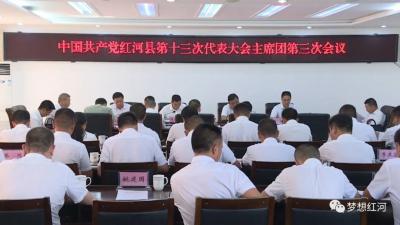 中国共产党红河县第十三次代表大会举行主席团第三次会议