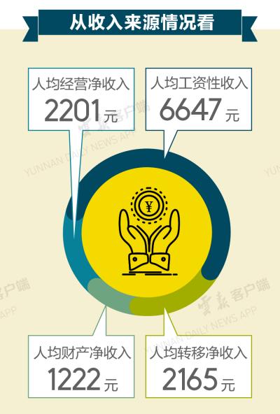 上半年云南人均可支配收入公布,快来看看你的收入是什么水平
