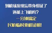 【提醒】有它,暑假出行忘带身份证也能登机!戳教程→