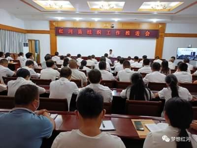 红河县召开全县组织工作推进会