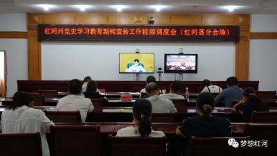 红河县组织参加全州党史学习教育新闻宣传工作视频调度会