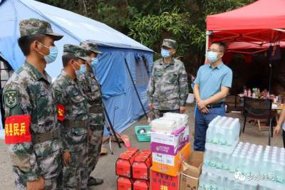 红河县四套班子领导看望慰问支援金平、绿春 强边固防突击队