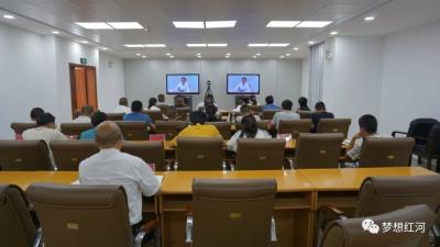 红河县组织参加全省项目工作推进电视电话会议