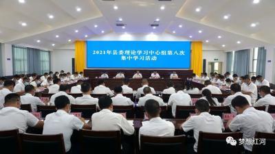 县委理论学习中心组举行第八次集中学习活动