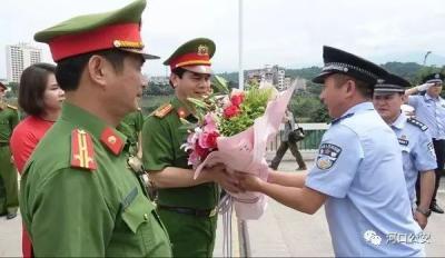 中国河口与越南老街沿边一市三县举行警务交流会谈