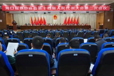 河口县第十四届人大二次会议举行第二次全体会议