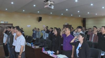 """通海五金产业园区党工委举行""""万名党员进学校""""培训"""