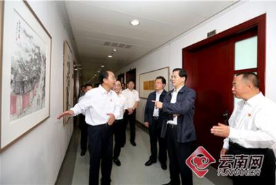 第六期云南省纪检监察特色文化长廊开展 陈豪参观展览