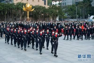 澳门举行升旗仪式庆祝回归祖国21周年