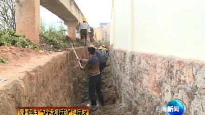 """爱国卫生""""7个专项行动""""进行时 九街社区:清理沟渠垃圾  推进环境整治"""