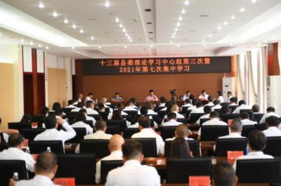 县委理论学心中心组举行2021年第七次集中学习