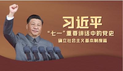 """习近平""""七一""""重要讲话中的党史 确立社会主义基本制度篇"""