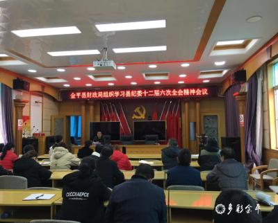 金平县财政局传达学习中央、省、州、县纪委全会精神