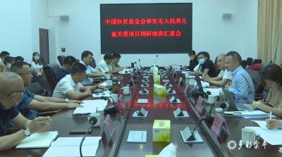 中国扶贫基金会事实无人抚养儿童关爱项目调研组到金平县调研