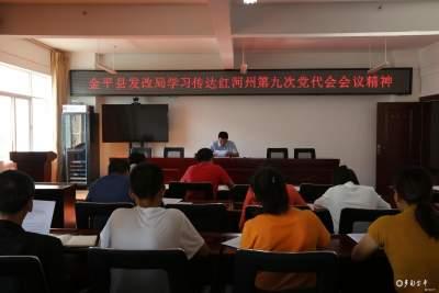 金平县发改局三举措抓实州第九次党代会精神学习宣传