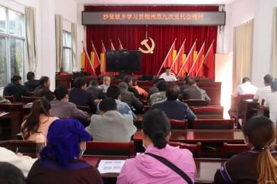 沙依坡乡学习贯彻州第九次党代会精神