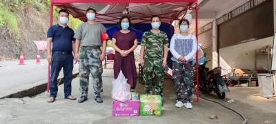 杨飞携爱心企业看望慰问疫情防控一线工作人员