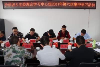 沙依坡乡党委理论学习中心组集中学习 习近平生态文明思想