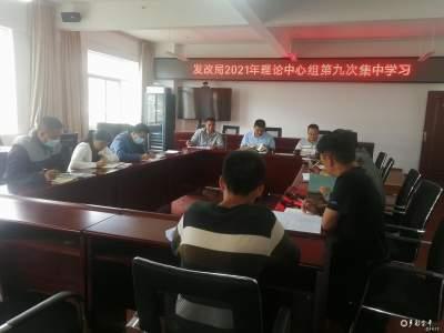金平县发展和改革局开展2021年理论中心组第九次集中学习