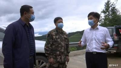 州政协党组书记庞俊到金平县金水河镇边境线分段巡查